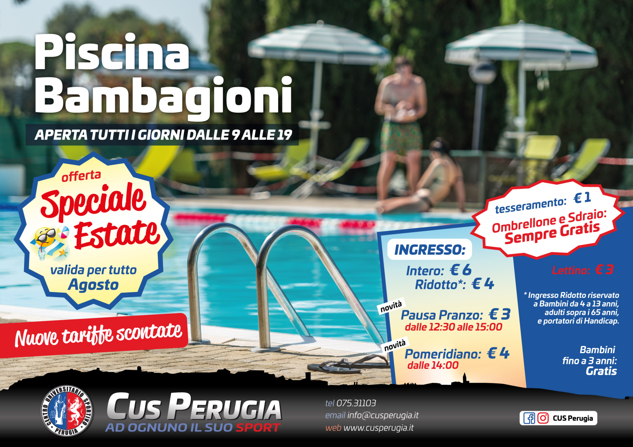 Promo Piscina Bambagioni Agosto 2018